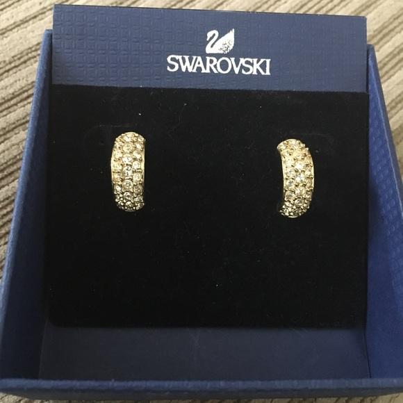 86d671f87 Swarovski Gold Angelic Pierced Earrings. M_5ac7f88700450f7d356990d1